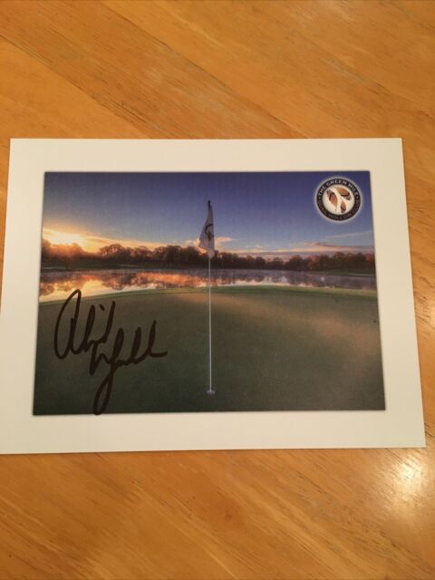 Phil Mickelson Signed Quail Hollow Golf Club Print MASTERS Wells Fargo PGA