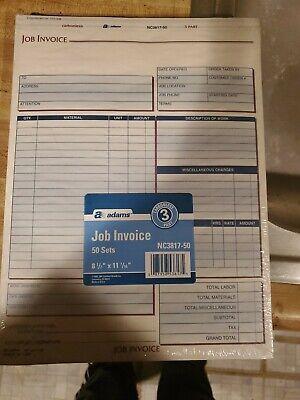 Adams Job Invoices 50 Ct Nib Duplicate System Nc3817 50 Ebay