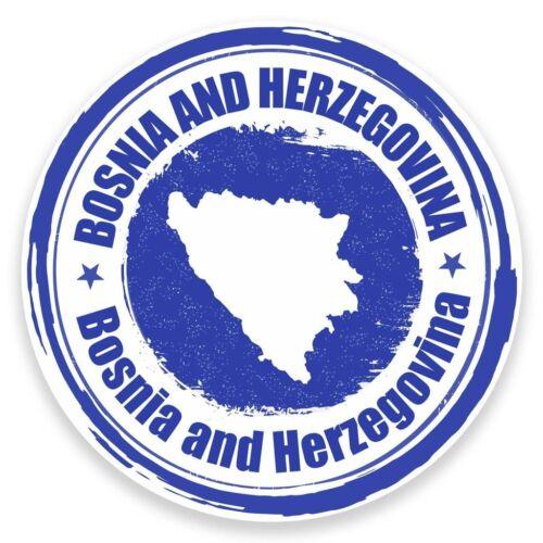 2 X Pegatina de vinilo bandera Bosnia y Herzegovina Coche Viaje Equipaje #9315