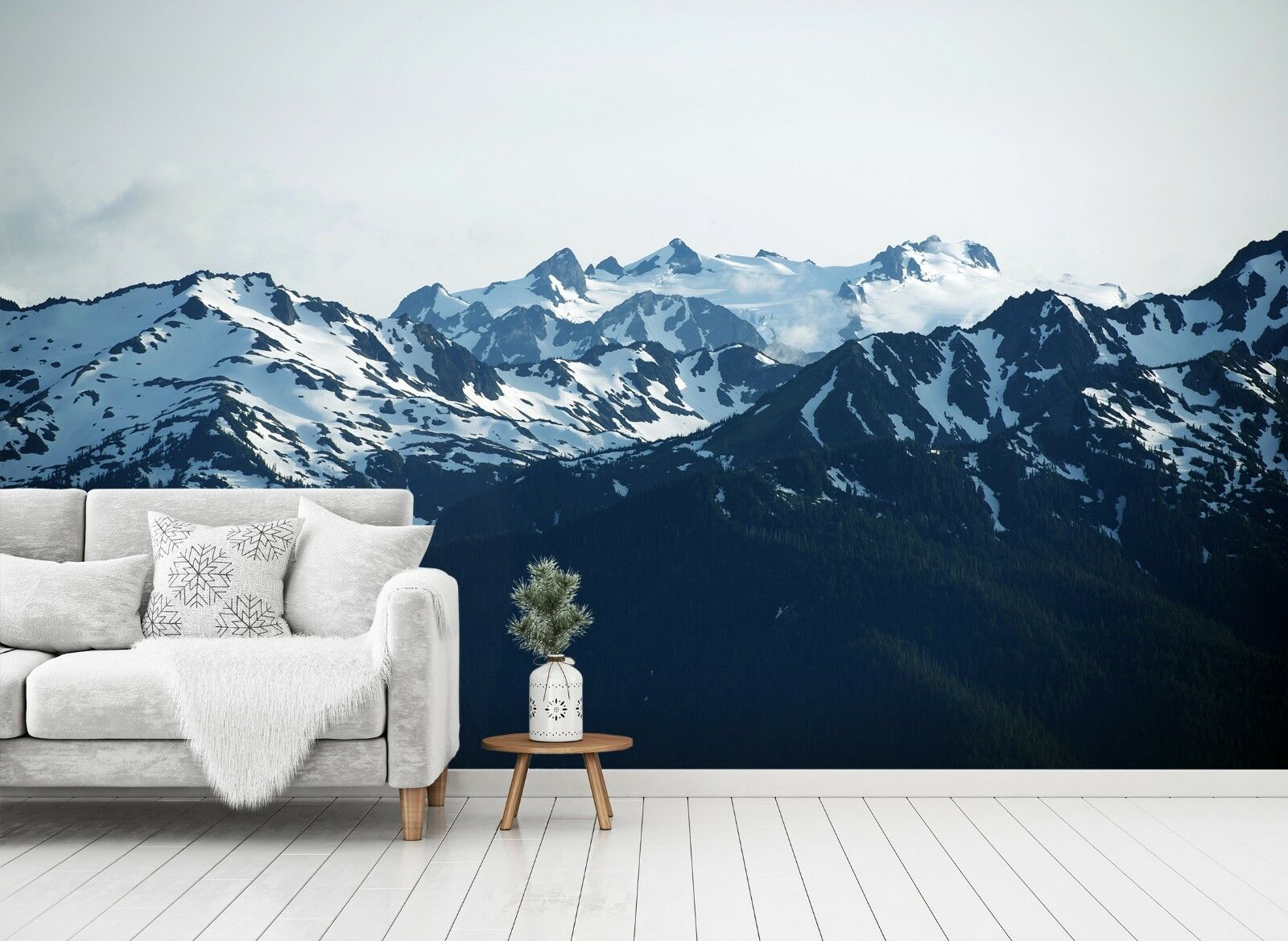 3D Snow Melting Mountain 3 Wall Paper Exclusive MXY Wallpaper Mural Decal Indoor