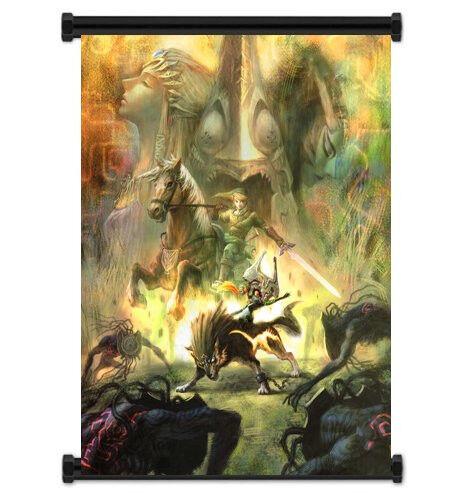 Legend of Zelda  Twilight Princess Game Fabric Wall Scroll Poster (16 x21 ) Inch