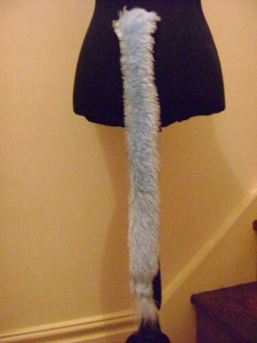 "BLUE tail coda di origine animale PELLICCIA SINTETICA LUNGA 28 /""Costume FAB"