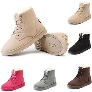 Ladies Faux Fur Grip Sole Womens Winter Snow Warm Ankle Boots ... 40d0d714a7