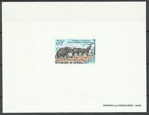 Senegal-Elephant-Elefanten-Epreuve-Deluxe-Proof-Essay-Prueba-Ungezahnt-1969