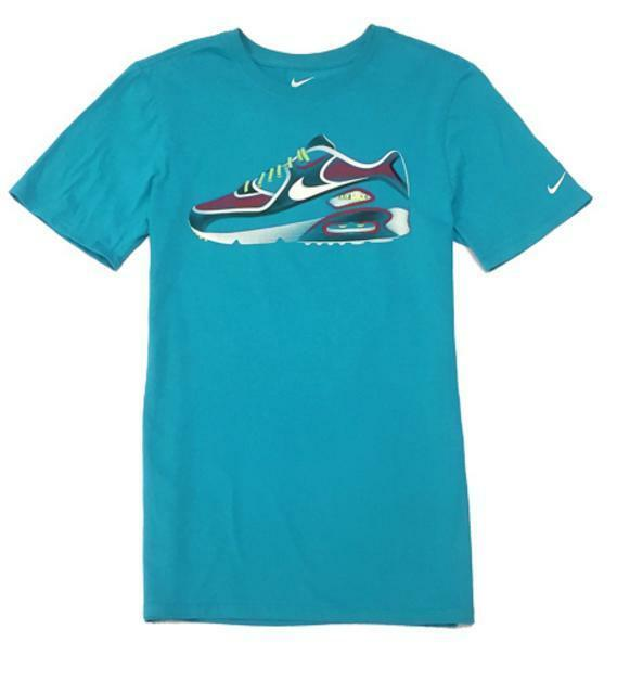 695694f1 Nike Air Max Sneaker Graphic Tee Shirt Size XL 878155 444 Teal for ...