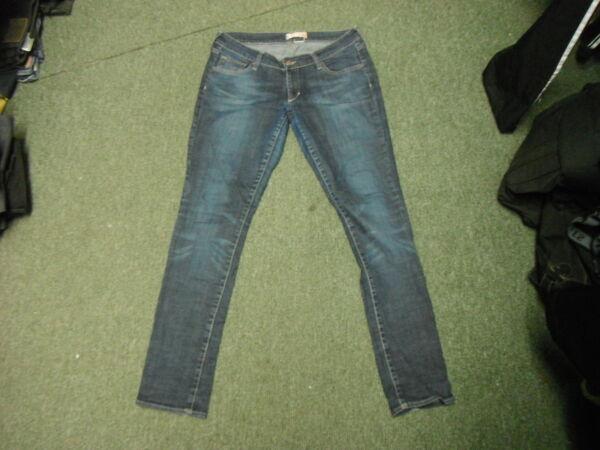"""& Sqin Jeans Vita 32"""" Gamba 32"""" Sbiadito Jeans Blu Scuro Donna Per Garantire Una Trasmissione Uniforme"""