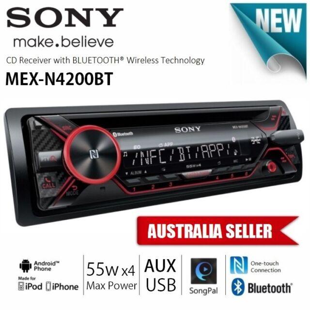 NEW SONY MEX-N4200BT 1-DIN iPod iPhone USB AUX BLUETOOTH RDS CAR AUDIO PLAYER
