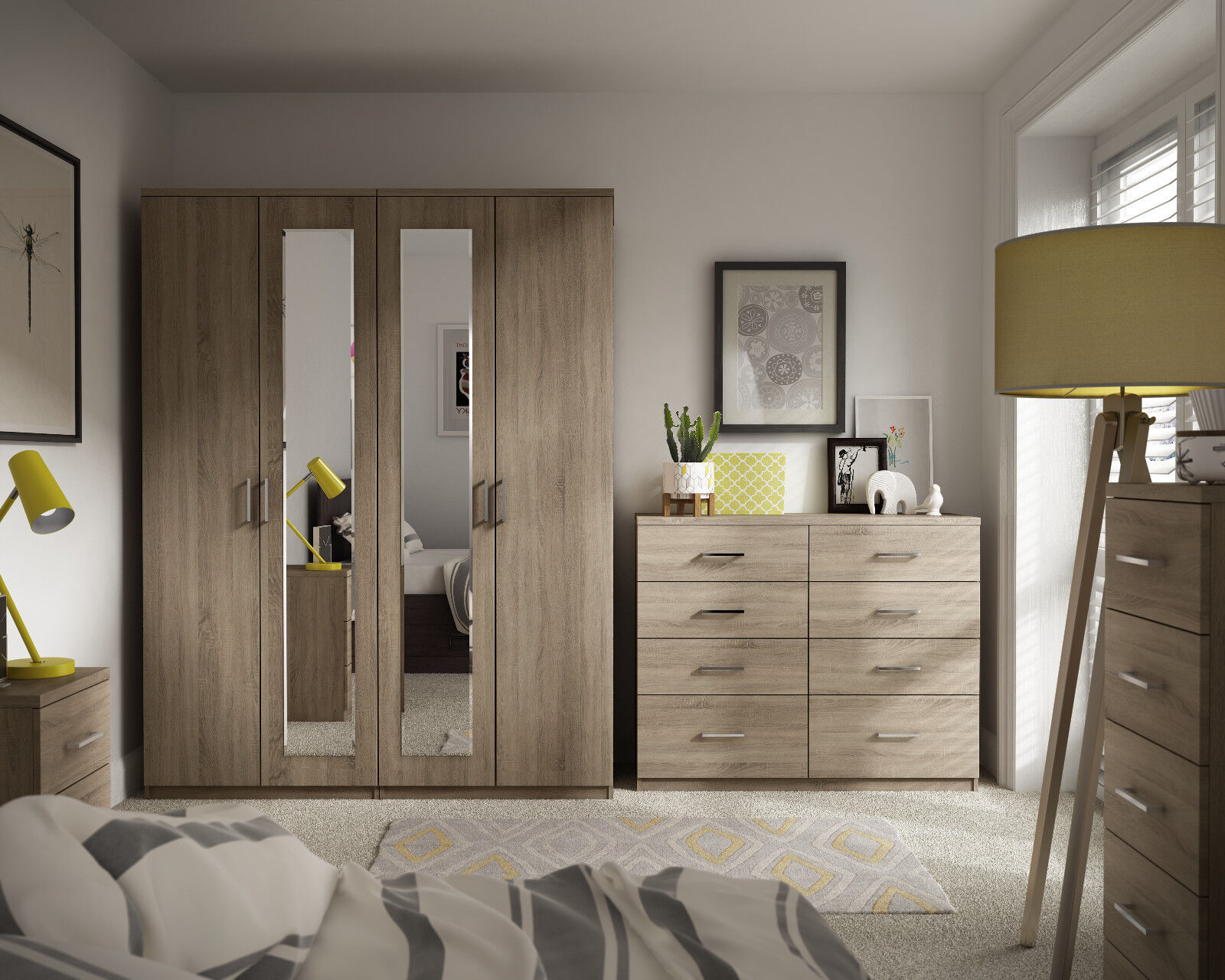 Terrific Details About Medina Bardolino Oak Wardrobe Drawer Set Fully Ready Assembled Bedroom Furniture Download Free Architecture Designs Rallybritishbridgeorg