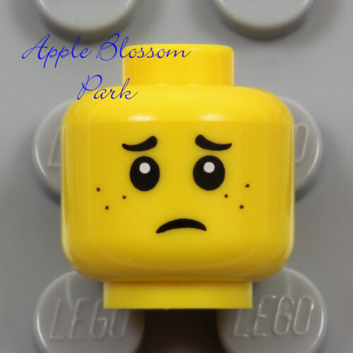 Boy Girl Kid Happy Happy Smile Sad Frown w//Freckles NEW Lego Child MINIFIG HEAD
