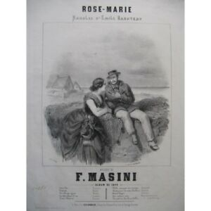 MASINI-Francesco-Rose-Marie-Singer-Piano-1844-partition-sheet-music-score