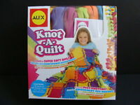 Alex Knot-a-quilt Craft Kit Fleece Blanket Knot A Quilt No Sewing Sew Kids