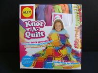 Alex Knot-a-quilt Craft Kit Fleece Blanket Knot A Quilt No Sewing Sew Kids
