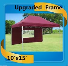 10'x15' Pop Up Canopy Party Tent EZ - Maroon - F Model Upgraded Frame
