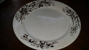Antique-Turner-Brown-Transfer-Transferware-Ironstone-9-034-Plate