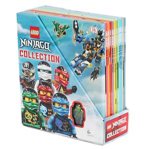 BRAND NEW  LEGO NINJAGO Collection  10 Book Box Set with Minifigure