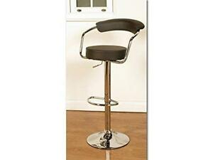 Matilda bar stools brown faux leather set of 2 gas lift high