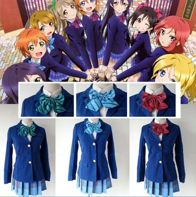 High School Student Uniform+Skirt+Bow Love Live Cosplay Stage Perform Costume