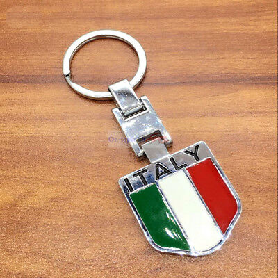 England UK Britain Flag Gray Badge Power Piston Metal Key Chain Keychain Ring