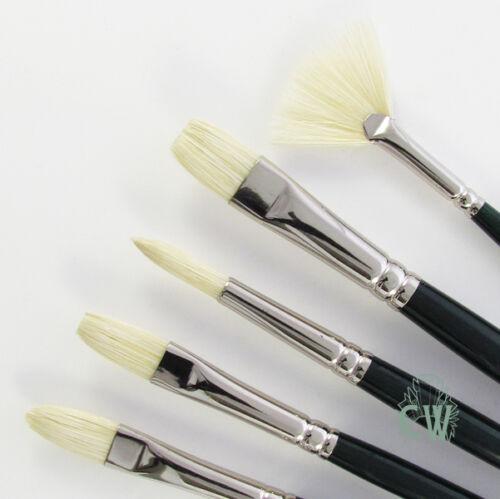 Winsor /& Newton Winton Artists 5 Brush Set For Acrylic /& Oil Painting
