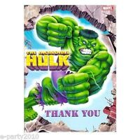 (8) Incredible Hulk Thank You Notes Birthday Party Supplies Cards Thanks