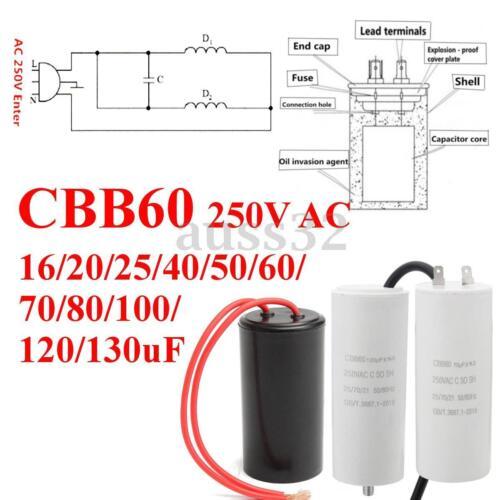 CBB60 32*65mm 250V AC 16uF 50//60HZ Start Running Motor Washing Machine Capacitor
