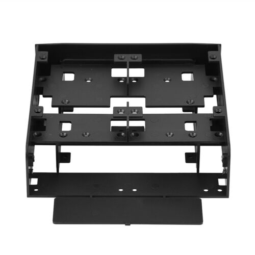 """5.25/"""" to 2.5/'/' 3.5/'/' SSD Hard Drive Bay PC Monting Bracket Base With Crew Black"""