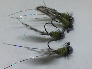 Bream and Trout great for Crappie 4 Custom Hand Tied 1//32 jigs #425-132