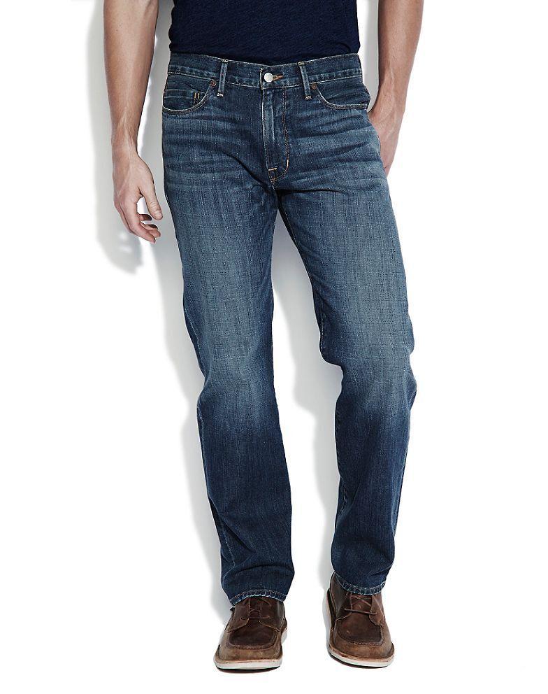 Lucky Brand 363 Hergestellt in USA Herren Vintage Gerade Jeans in El Dorado Neu
