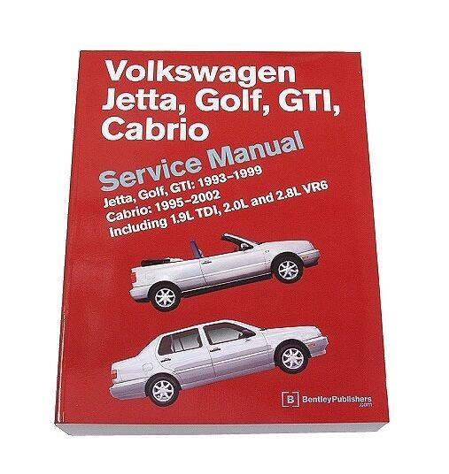 vw jetta golf gti bentley repair service manual 1993 1999 ebay rh ebay com 1995 VW Seat Beat 1993 VW