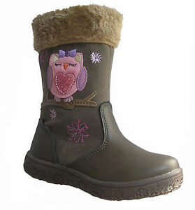 GORGEOUS-YOUNG-GIRLS-WOOLEY-BOOTS-OWL-BROWN-FUR-SIZE-5-6-7-8-9-10-11-12