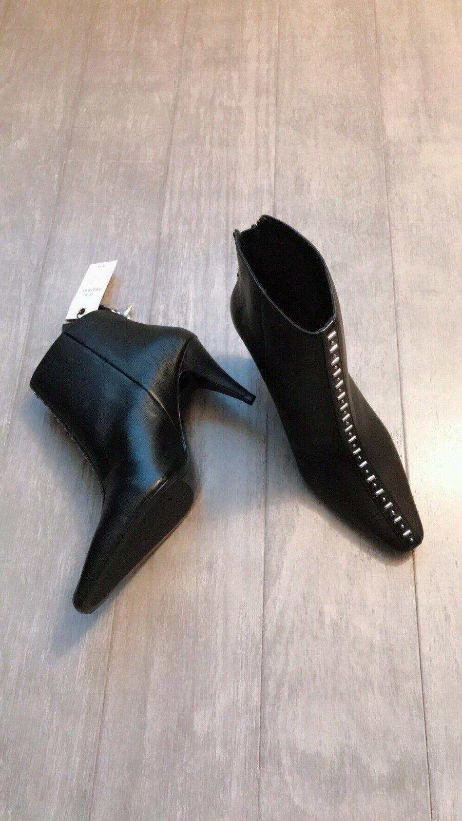 Zara mujer Leather botas al al al Tobillo Con Tachuelas (Negro, 7.5 EUR 38 EE. UU.)  ahorre 60% de descuento