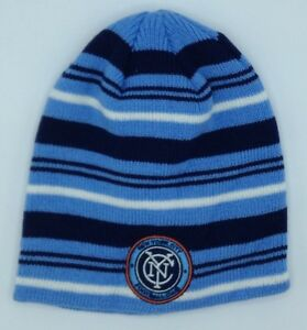 0565492a96d MLS New York City FC Adidas Cuffless Winter Knit Hat Cap Beanie ...