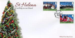 ST-HELENA-2016-FDC-Airs-sur-notre-ile-3-V-Set-Housse-De-Noel-timbres