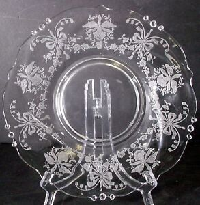 HEISEY-crystal-ORCHID-5025-pattern-MAYONNAISE-BOWL-UNDERPLATE-or-LINE-7-1-4-034