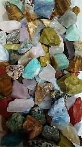 STORAGE-CLEANOUT-Mix-of-all-Tumbler-rocks-for-Tumbling-20-Lbs-of-over-60-types