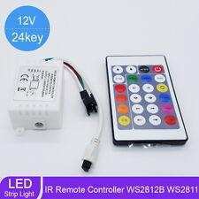 24 Key LED RGB IR 1000 Pixels Remote Controller For WS2812B WS2811 Strip Light M