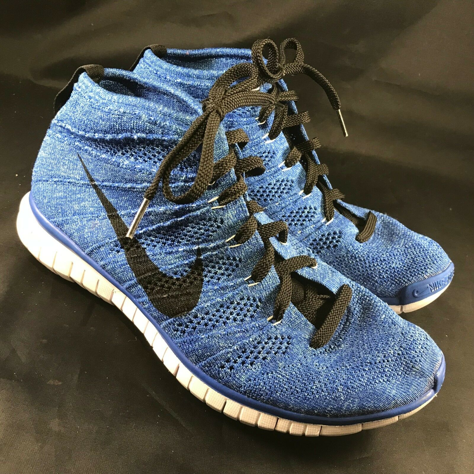 Nike Free Flyknit Chukka Game Royal bluee Black White SZ 9.5 (639700-403) 43 EUR