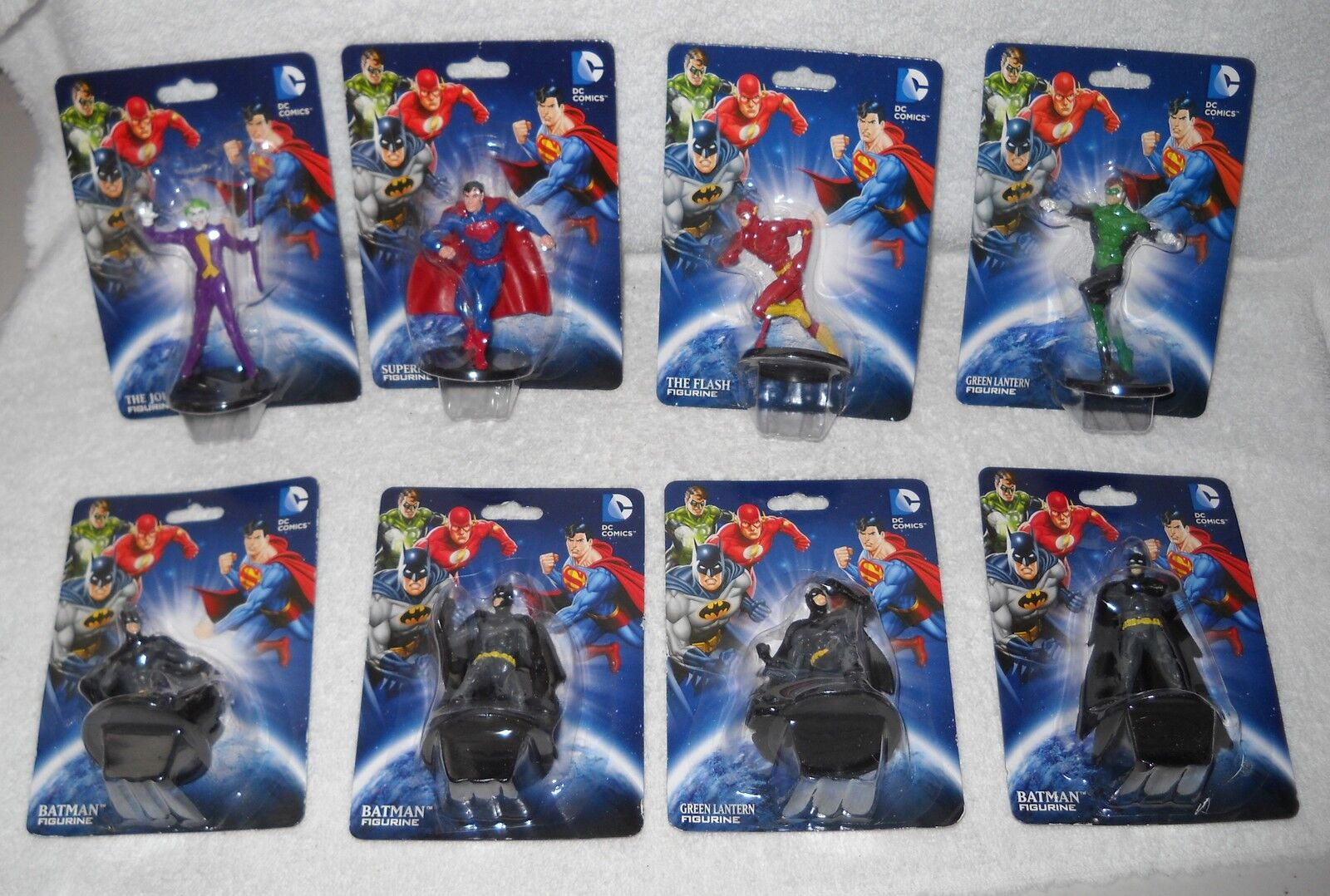 7166 f - dc comics 2  zahlen - 4 batman und joker, superman, flash, Grün lantern