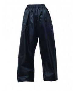 Kids Boys Girls Childrens Regatta Stormbreak Trousers Waterproof Rain Over Pants