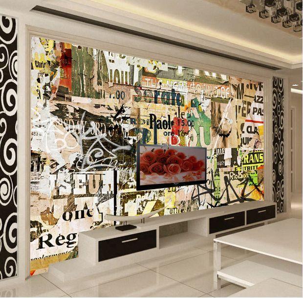 3D Graffiti.23 Photo Papier Peint en Autocollant Murale Plafond Chambre Art
