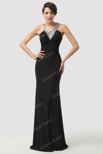 Sexy Hot Beaded Balck Evening/Formal/Ball Gown/Party/Pageant/Prom Dress Long New