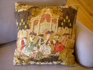 Colonial-Victorian-Print-Linen-Blend-Throw-Pillow-17-034-Square