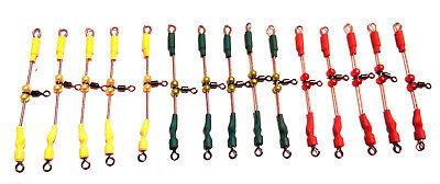 15 urfes de varilla acero inox verde,amarillo,rojo 6 ctm con casquillos