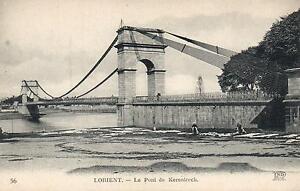 EARLY-1900-039-s-VINTAGE-POSTCARD-Le-Pont-de-Kerentrech-over-Scorff-River-Lorient