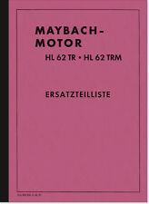 Maybach HL 62 TR TRM Ersatzteilliste Ersatzteilkatalog HL62 Spare Parts List 43