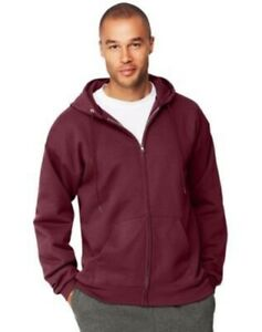 Hanes-Men-039-s-Ultimate-Cotton-HEAVYWEIGHT-Full-Zip-Hoodie-13-COLORS-S-3XL