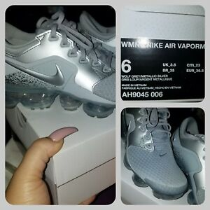 Nike Air Vapormax Wolf Grey Silver Size