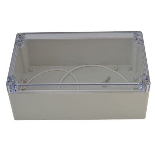 200*120*56mm Clear Plastic Electronics Project Box Enclosure Case With Screw 1PC