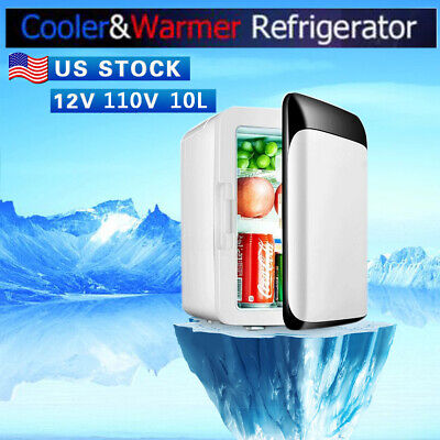 ckground 10L Mini Icebox Portable Refrigerators Fridge Freezer Cooler Warmer Can Be Cooling or Warming Suitable for Car Home Office Outdoor Picnic Travel