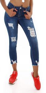 Jeans High Waist Ladies Skinny 7/8 Jeans Denim Pants Used